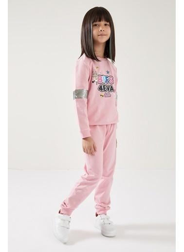 DeFacto Kız Çocuk L.O.L Lisanslı Sweatshirt ve Jogger Eşofman Takım Pembe